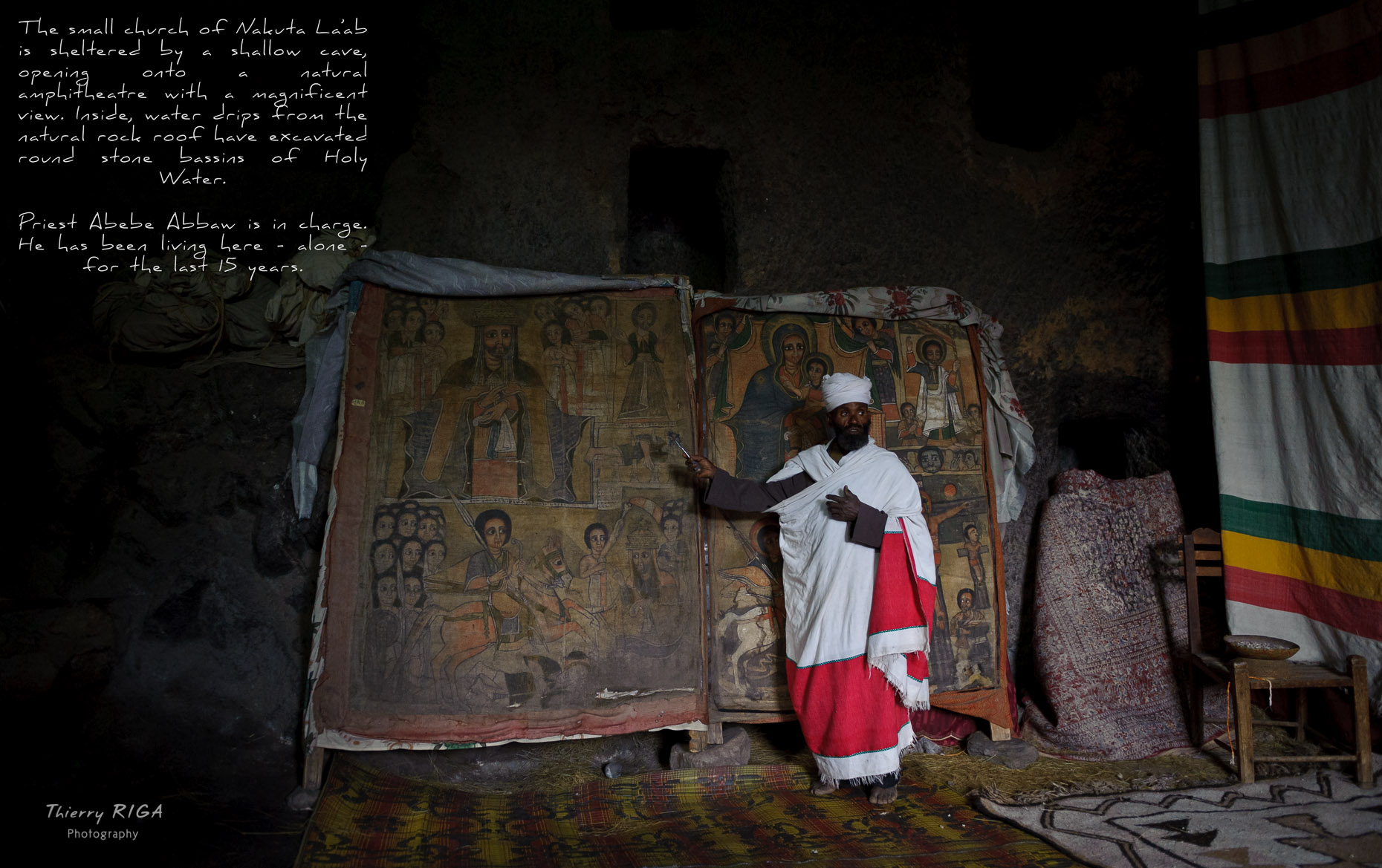 Lalibela priest cross ethiopia Nakute Laab church