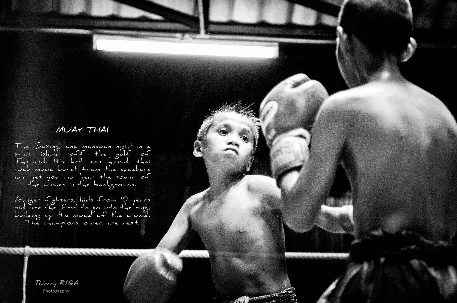 Muay Thai boxing kid punch thailand
