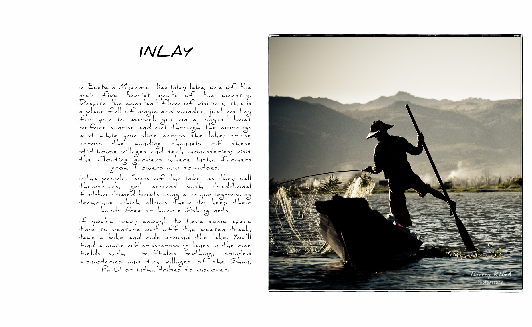 Inlay lake fisherman net intro
